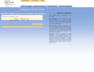 aleph.u-paris10.fr screenshot