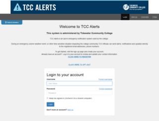alerts.tcc.edu screenshot