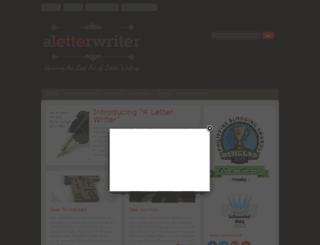 aletterwriter.com screenshot