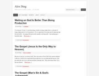 alex-ding.com screenshot