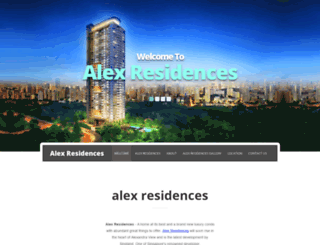 alex-residences.officialnewlaunch.com screenshot