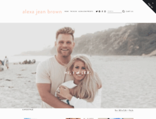 alexajeanbrown.com screenshot
