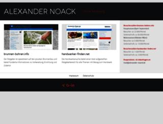 alexander-noack.de screenshot