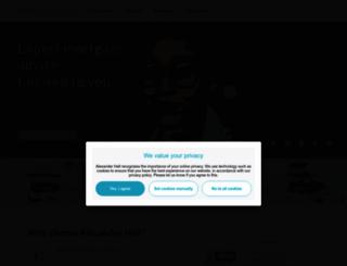 alexanderhall.co.uk screenshot