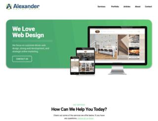 alexanderonlinemedia.com screenshot