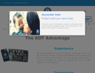 alexandersafe.com screenshot