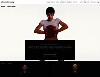 alexanderwang.com screenshot