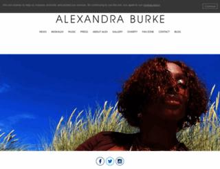 alexandraburkeofficial.com screenshot