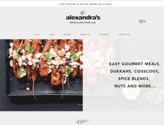 alexandrafinefoods.co.nz screenshot