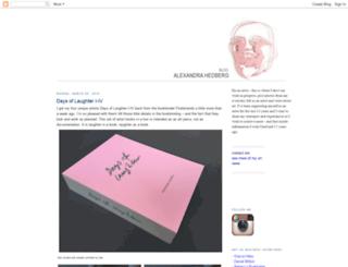 alexandrahedberg.blogspot.com screenshot