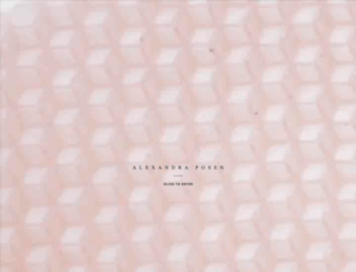 alexandraposen.com screenshot