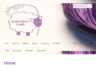 alexandrascrafts.com screenshot