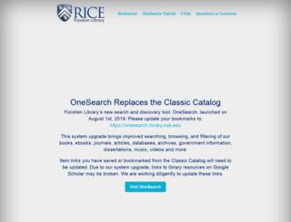 alexandria.rice.edu screenshot