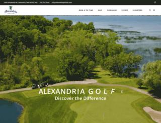 alexandriamember.totalegolf.com screenshot