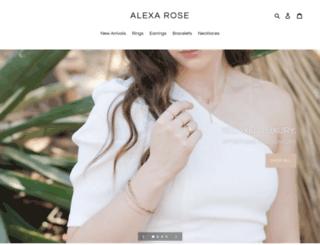 alexarosejewelry.com screenshot