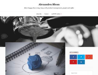 alexbleau.com screenshot