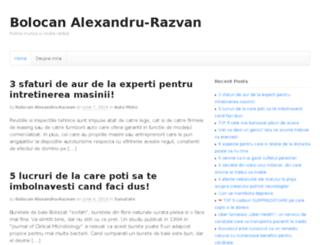 alexbolocan.ro screenshot