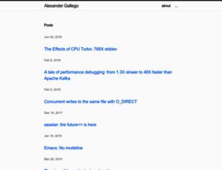 alexgallego.org screenshot