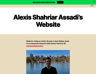 alexisassadi.net screenshot