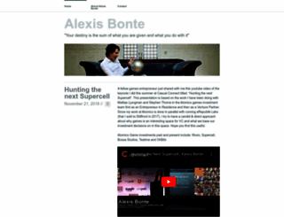 alexisbonte.com screenshot