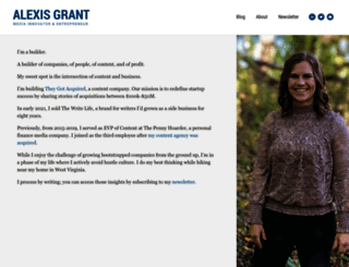 alexisgrant.com screenshot
