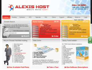 alexishost.com screenshot