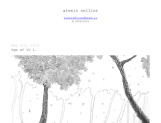 alexissellier.com screenshot