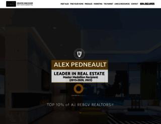 alexpedneault.com screenshot