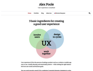 alexpoole.info screenshot