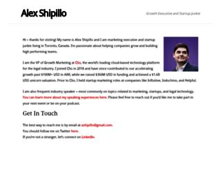 alexshipillo.com screenshot