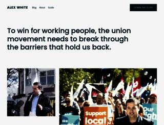 alexwhite.org screenshot