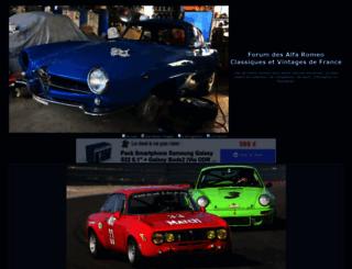 alfa-romeo-classique.forumactif.com screenshot