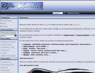 alfa-sportivo-tuning.de screenshot