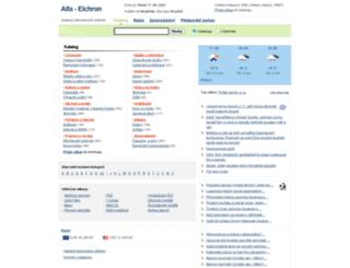 alfa.elchron.cz screenshot