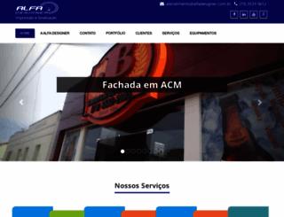 alfadesigner.com.br screenshot