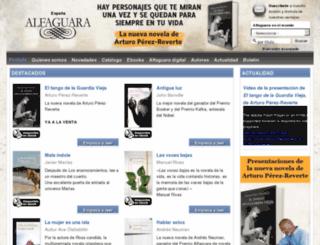 alfaguara.santillana.es screenshot