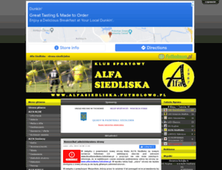 alfasiedliska.futbolowo.pl screenshot