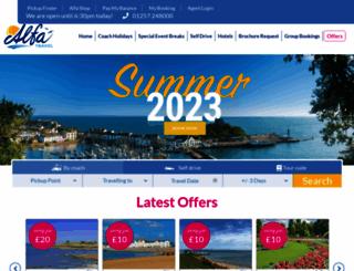 alfatravel.co.uk screenshot