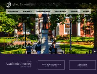 alfred.edu screenshot