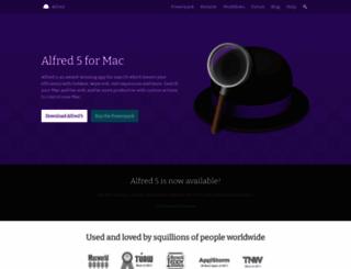 alfredapp.com screenshot