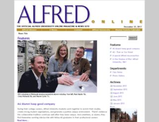 alfredmagazine.alfred.edu screenshot