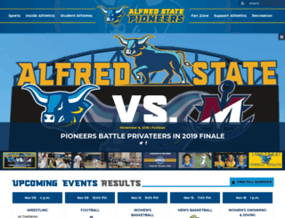 alfredstateathletics.com screenshot