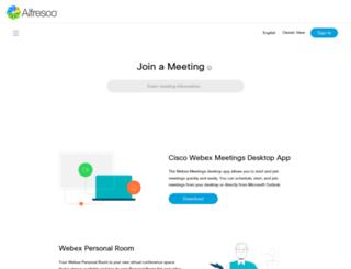 alfresco-events.webex.com screenshot