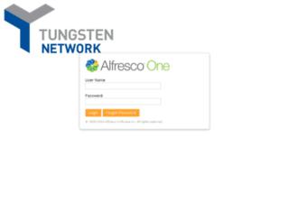 alfresco.tungsten-network.com screenshot