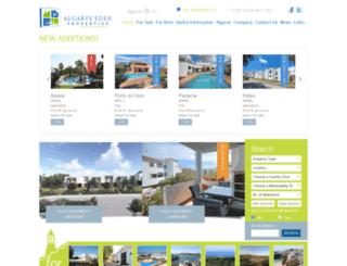 algarveedenproperties.com screenshot