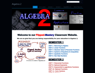 algebra2.flippedmath.com screenshot