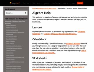 algebrahelp.com screenshot