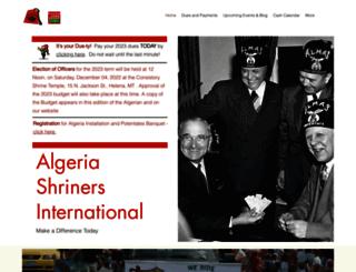 algeriashrinersinternational.org screenshot
