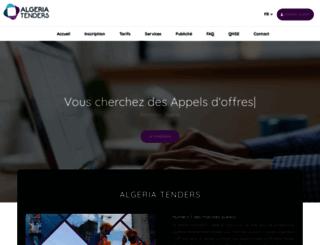 algeriatenders.com screenshot