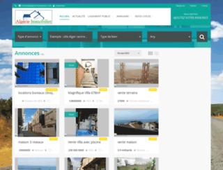 algerie-immobilier.com screenshot